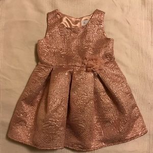 Pink blush metallic party holiday sleeveless dress